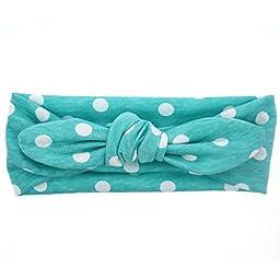 Mookiraer® Baby Girl Newest Turban Headband Head Wrap Knotted Hair Band (G786--6PCS)