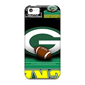 Iphone 5c AjO18534mdsQ Unique Design Beautiful Green Bay Packers Pattern Protective Hard Phone Cases -TimeaJoyce