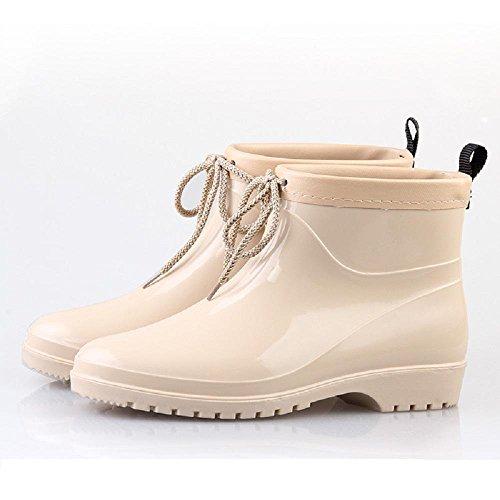 chaudes de Beige Pvc Europe pluie Chaussures Bottes pluie Amérique et mode de Mme zPxwwqACT