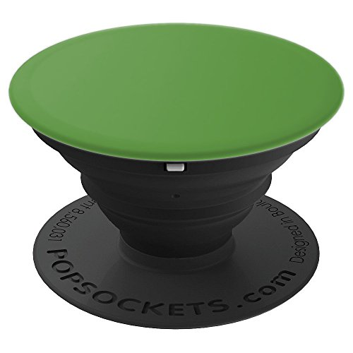 (Plain Green Grass Green Emerald Shamrock Pastel Color - PopSockets Grip and Stand for Phones and Tablets)