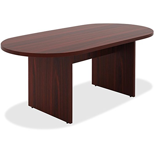 Lorell Chateau Srs Mahogany 6' Oval Conf. Table - Edge Oval Top Conference Table