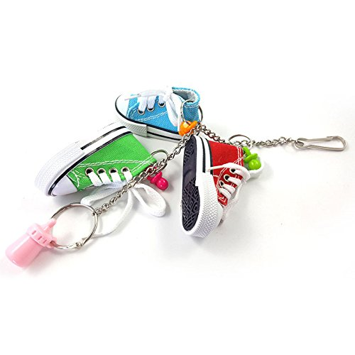 Binglinghua Mini Sneaker Bird Chewing Toy Parrot Parakeet Bite Chew Toy Pet Macaw African Greys Budgies Funny Swing Bells Toy