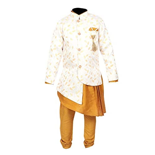 41iNp6O4OiL. SS500  - Ahhaaaa Kids Ethnic Wear Kurta Pyjama Waistcoat Set For Boys