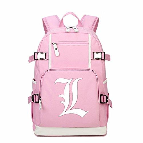 YOYOSHome Luminous Japanese Anime Cosplay Laptop Bag Bookbag College Bag Backpack School Bag (Death (Death Note Light Yagami Cosplay Costume)