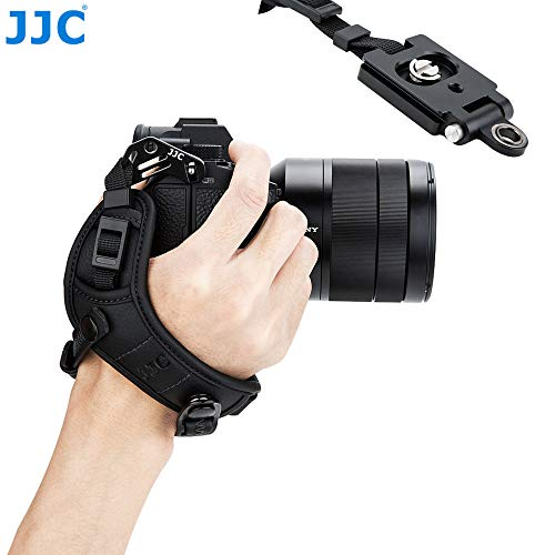 JJC Pro Hand Grip Strap for Mirrorless Camera, W/Arca Type Plate, Camera Hand Strap for Canon EOS R Rp Nikon Z6 Z7 Panasonic S1 S1R Sony A7 A7R A7S II III a6500 a6400 a6300 Fuji X-T3 X-T2 X-T3 X-T2