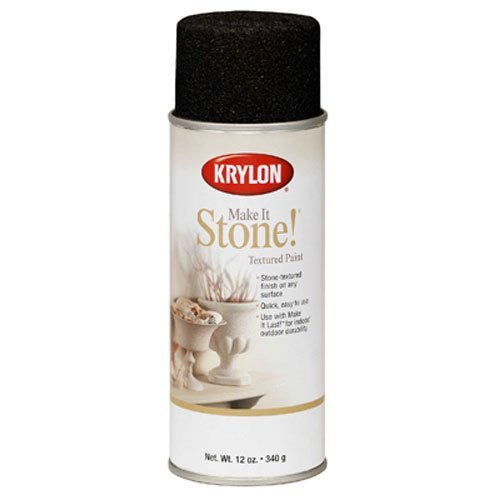 Krylon K18212 Coarse Stone Texture Finish Spray Paint, Obsid