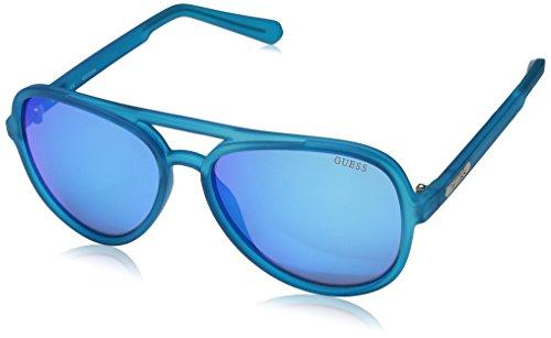 GUESS Unisex GF0150 Matte Blue/Blue Mirror Sunglasses