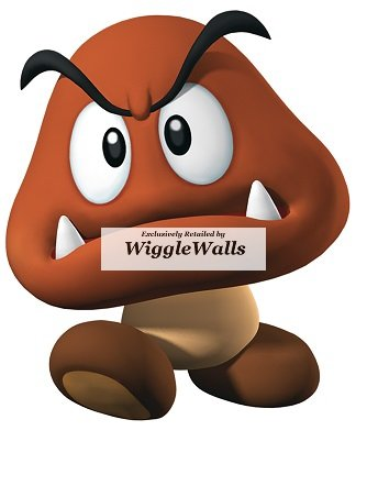 Mario Removable Wall Wii Kart Decorations (2 Inch Goomba Super Mario Bros Brothers Removable Wall Decal Sticker Art Nintendo 64 SNES Home Kids Room Decor Decoration - 2 1/2 by 2 3/4)