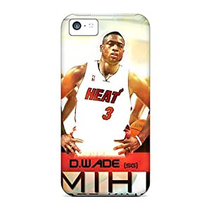 First-class Cases Covers For Iphone 5c Dual Protection Covers Miami Heat