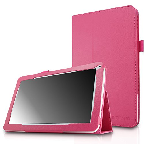 Infiland Folio PU Leather Slim Stand Case Cover for 10.1