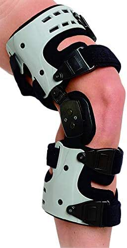 Superior Braces OA Unloader Knee Brace for Arthritis Pain, Osteoarthritis, Knee Joint Pain and Degeneration, Universal Size, Left Medial, Right Lateral, Gray & Black