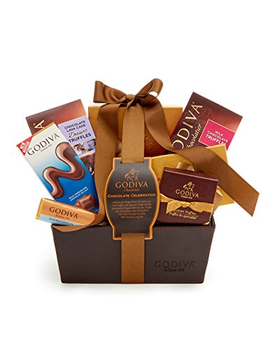 Godiva Chocolatier Classic Ribbon Chocolate Celebration Gift Basket, Great for Holiday Gifting