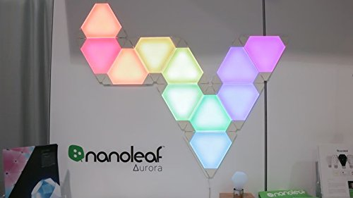 Nanoleaf Bundle, Nanoleaf Aurora Modular LED Lights (9 Lights plus Controller) plus Nanoleaf Expansion Pack (3 Lights) plus 36 Design Inspirations by Nanoleaf (Image #4)