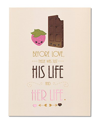 American Greetings Chocolate Strawberry Bridal Shower Congratulations Card with Glitter - 5856811