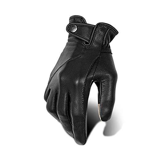 Tylyund handschoenen Lederen Motorhandschoenen Handschoenen Winter Motorhandschoenen Retro Rijhandschoenen Anti-val…