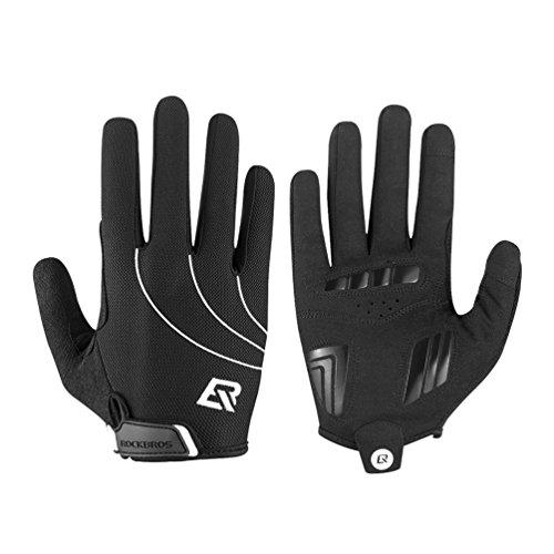 RockBros Sports Gloves Shockproof Full Finger Cycling Gloves Touchscreen Running Driving Gloves Men & Women