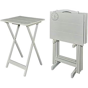 Amazon.com: Bandeja de TV mesas con extraíble bandeja para ...