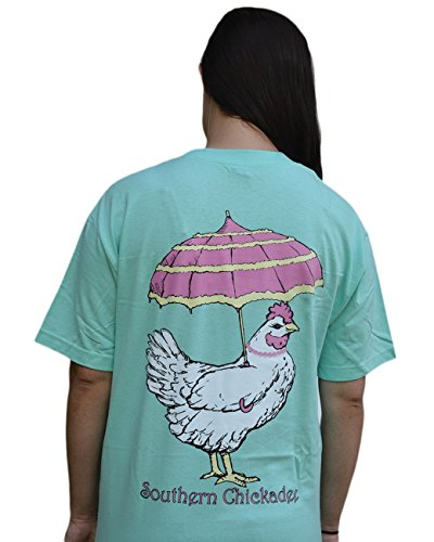 (Southern Chickadee Country Chicken Short Sleeve Tee - Celadon (Medium))