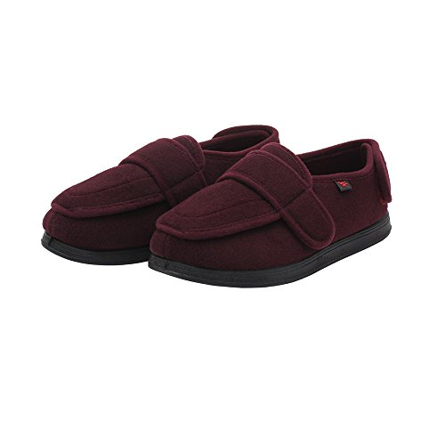 (NEPPT Orthopedic Slippers Diabetic Neuropathy Safety Shoes Extra Wide Sneakers Flat Feet Personalized Slippers for Women & Men (9#, Women-Red))