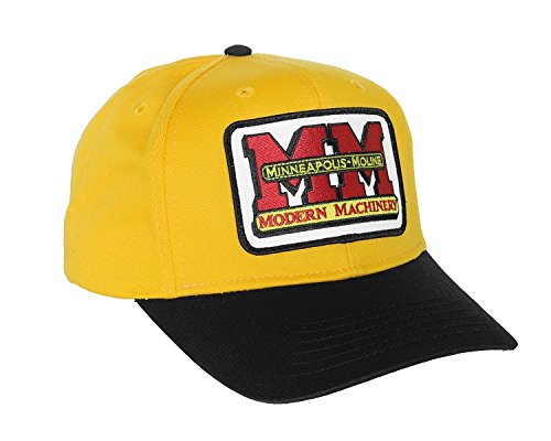 J&D Productions Minnapolis-Moline Logo Hat with Gold/Black Brim One Size