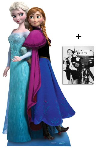 Fan Pack - Anna and Elsa from Frozen Disney Cardboard Cutout / Standee - Includes 8x10 (20x25cm) Photo -
