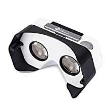DSCVR Headset inspired by Google Cardboard v2 IO 2015 VR Gear for Apple iPhone and Android Smartphones - Google WWGC Certified Virtual Reality Viewer Black