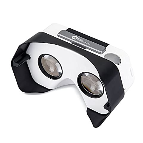 DSCVR Headset inspired by Google Cardboard v2 IO 2015 VR Gear for Apple iPhone and Android Smartphones - Google WWGC Certified Virtual Reality Viewer (Black)