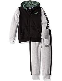 PUMA Baby-Boys Boys' Fleece Zip Up Hoodie Set Hooded Sweatshirt