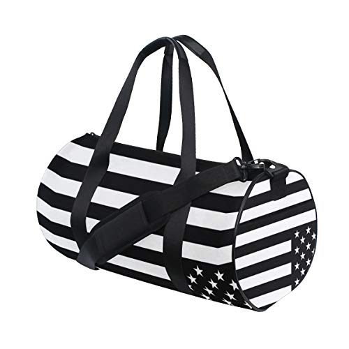 402b5778b9b OuLian Duffel Bags Memorial Day Flag Womens Gym Yoga Bag Sma