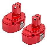 KINGTIANLE 2 Pack 1822 Replacement Battery 18V 3600mAh for Makita 1823 1833 1834 1835 1835F 192828-1 192829-9 193061-8 193102-0 193140-2 193159-1 193783-0