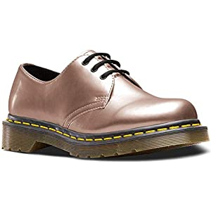 Dr. Martens Women's 1461 Vegan Metallic Chrome