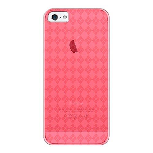 Katinkas KATIP51069 Soft Cover für Apple iPhone 5 Checker rot