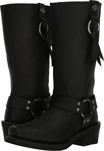 Harley-Davidson Women's Fenmore Motorcycle Boot, Black, 7.5 Medium US