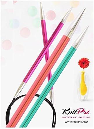 Longueur 120/cm Couleur Chrysolite /épaisseur 3,5/mm KnitPro Nouveaut/é Aiguille Circulaire Zing