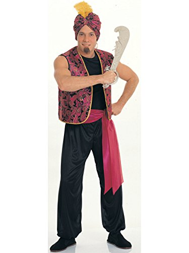 Rubie's Sultan Complete Value Adult Costume, Black/Red, One Size ()