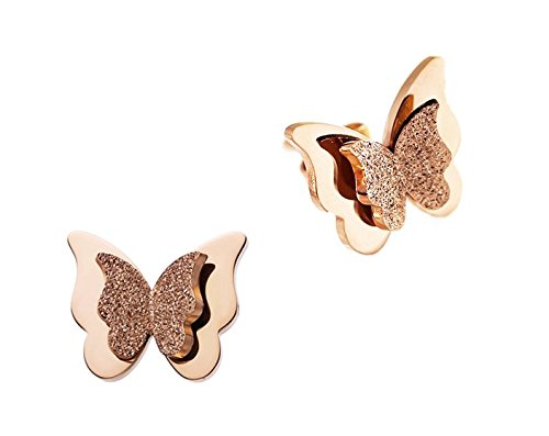 WDSHOW Frosted Butterfly Stainless Earrings product image
