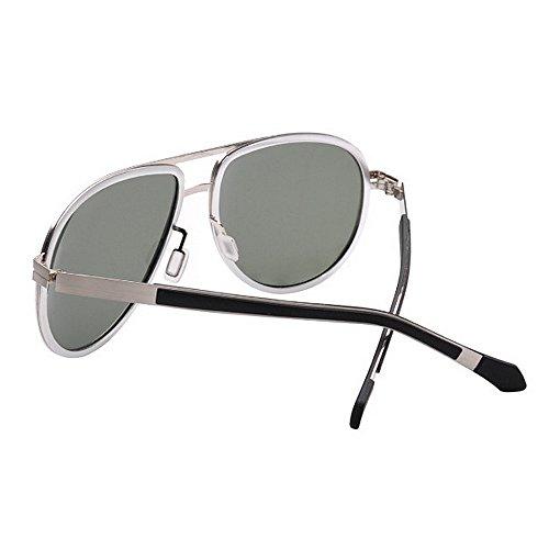 Hombre 400 del Plata Aviador Colores La SunglassesMAN Yxsd de Sol la Protección Gafas UV para Mujer Gray para de Color polarizadas qxXS87w