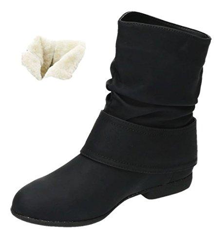 plisadas Shoes Botas King Of negro Mujer 0wRvPwT8q