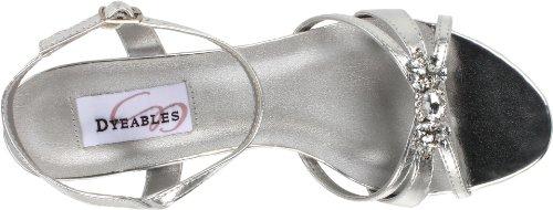 Sandalo Cinturino Alla Caviglia Sandalo In Argento Metallizzato