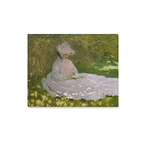 Christmas Day Decor Woman Reading Art By Claude Monet Canvas Print Modern Wall Art for Home Decoration ()