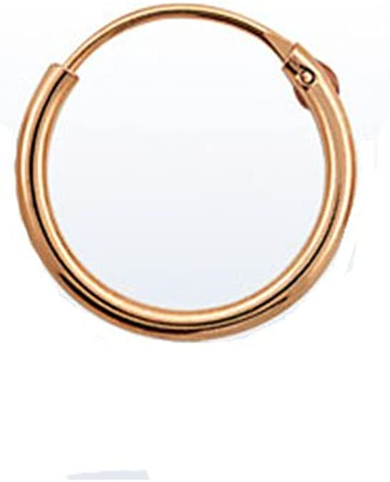 Rose Gold Tone 925 Sterling Silver Nose Ring 1 4 6 4mm Hinged Hoop 22 Gauge 22g Amazon Ca Jewelry