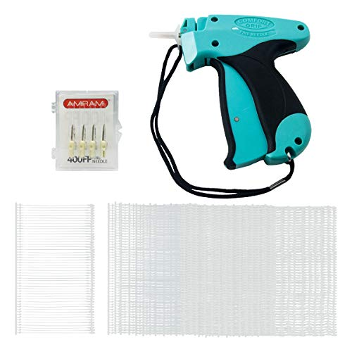 Fabric Needles Fine - Amram Comfort Grip Tagging Gun Kit 1250 2 Inch Attachments 5 Needles for Fine Clothing Tagging Applications Easy to Load Easy to Use