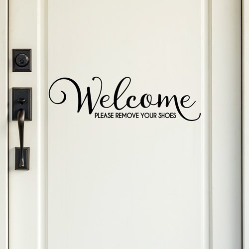 Amazoncom Welcome Please Remove Your Shoes Quote Vinyl Wall - Custom vinyl wall decals quotes   how to remove