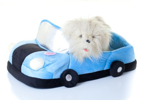 Convertible Dream Car Bed for Quiet Time for Pet Blue Dog / Cat, My Pet Supplies