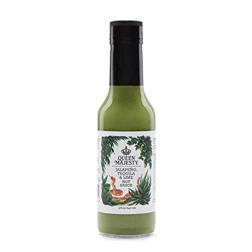 (QUEEN MAJESTY HOT SAUCE Hot Sauce Jalapeno Tequila Lime, 5)