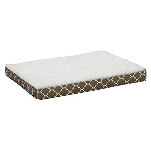 MidWest EcoSpring Orthopedic Dog Bed feat. Teflon w Brown / Fleece Pattern, 48L x 36W x 5.25H Inches, XL dog breed by MidWest Homes for Pets