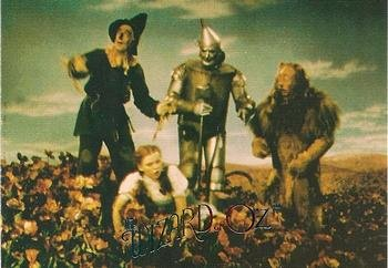 (Dorothy, Scarecrow, Tin Man & The Lion trading card (The Wizard of Oz) 1996 DuoCards #45)
