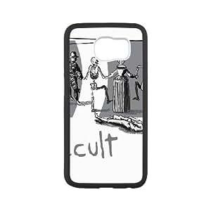 Caja del teléfono Samsung Galaxy S6 Funda Negro Danza de la Muerte E1P2CM Teléfono protector duro Funda