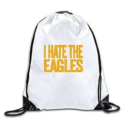 I Hate The Eagles Cool Drawstring Backpack Drawstring Bag
