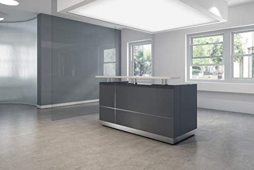 Modern Space Grey Reception Desk 71″